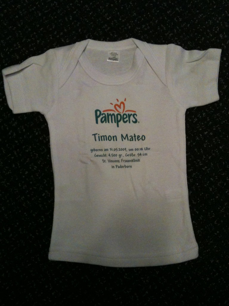 ein pampers t shirt danke pampers wolfgang reinhardt. Black Bedroom Furniture Sets. Home Design Ideas