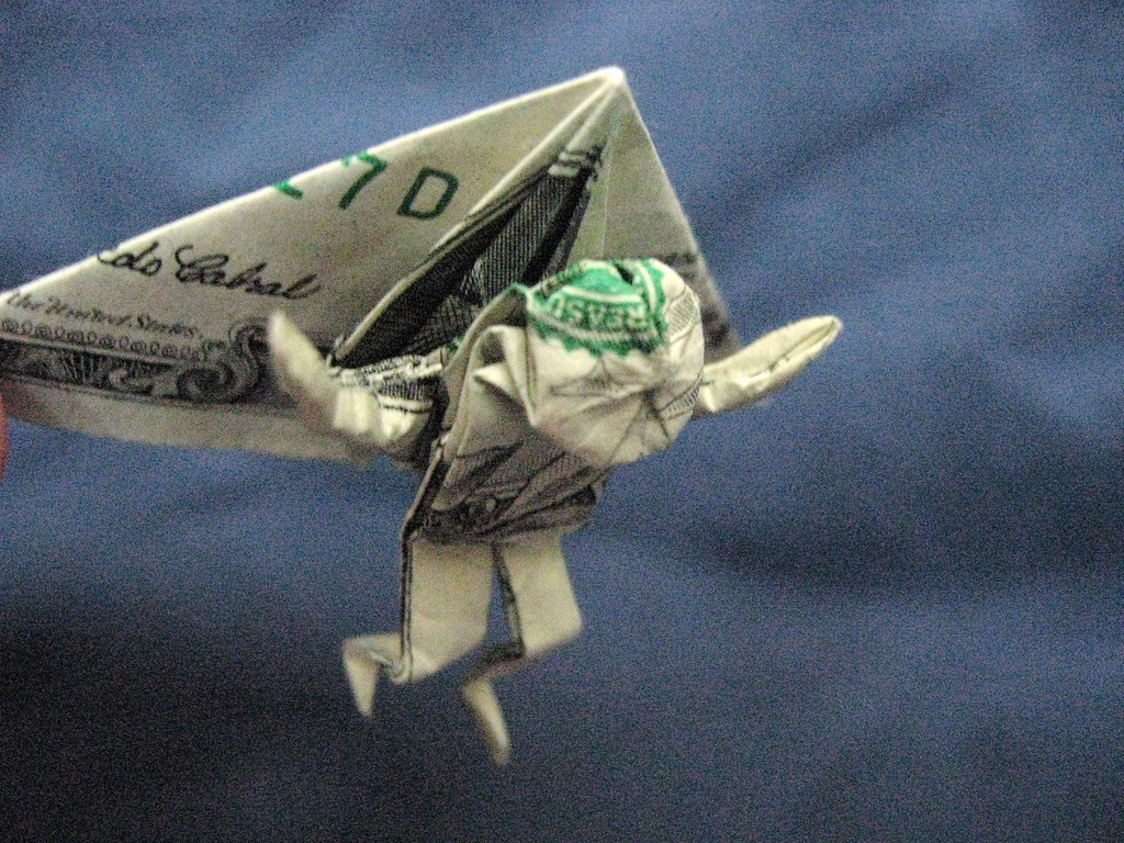 Hang Glider | Folded from a dollar bill. Crease pattern ... - photo#40