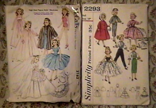 "Sweet Sue"" McCALLS & SIMPLICITY doll clothes patterns 