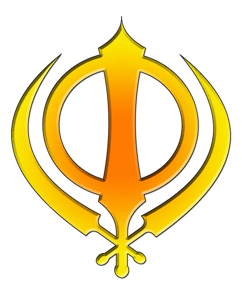 khanda - yellow orange | The Insignia of the Khalsa: The ...