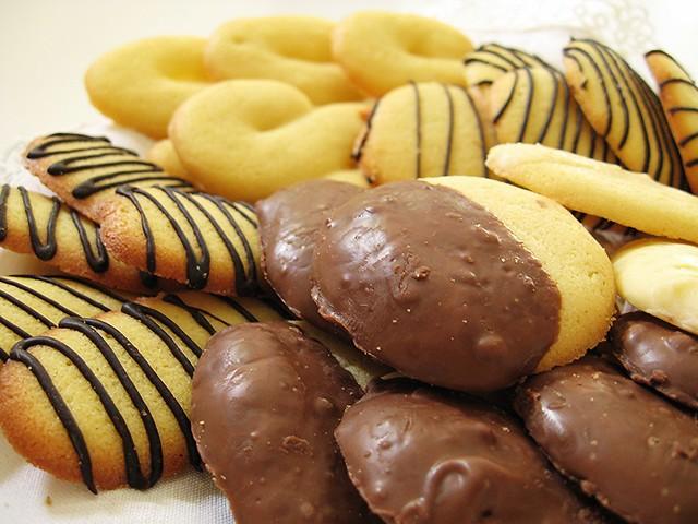 biscottini variegati di frolla morbida