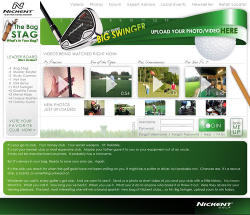 Nickent Golf Promotion Comp Site Design | by alana renfro