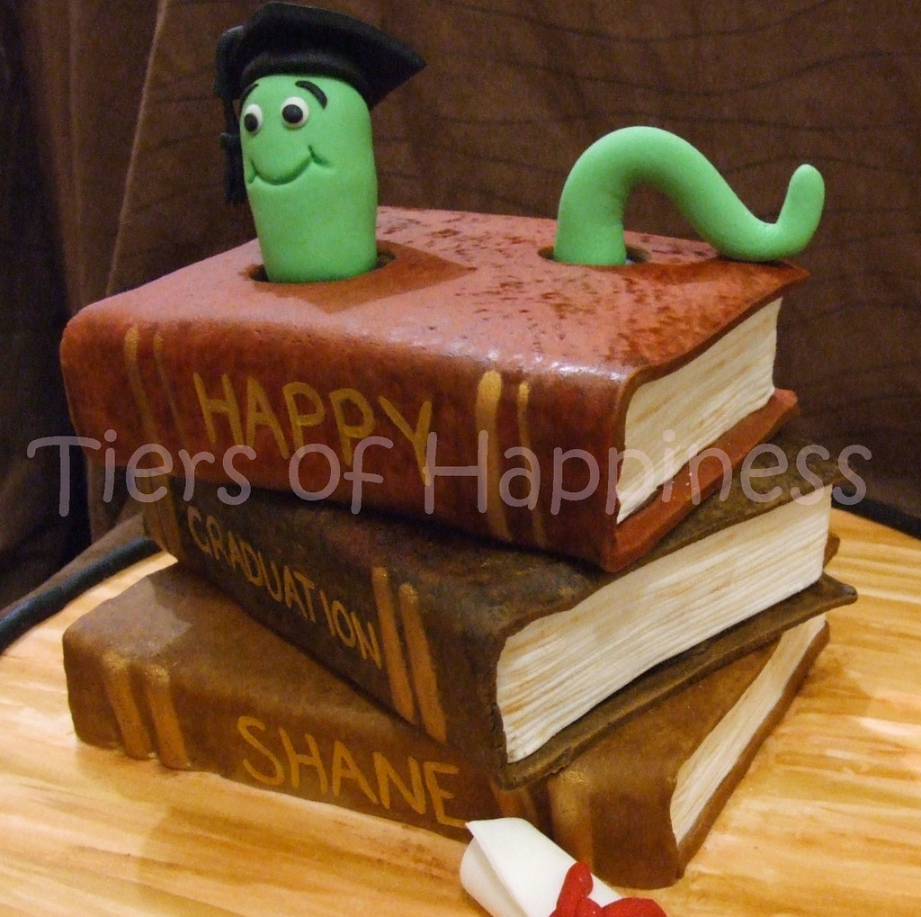 Cake Designs Books Download : graduation cake top and botom book are mud cake,middle ...