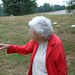 Nanny at Dad's grave site