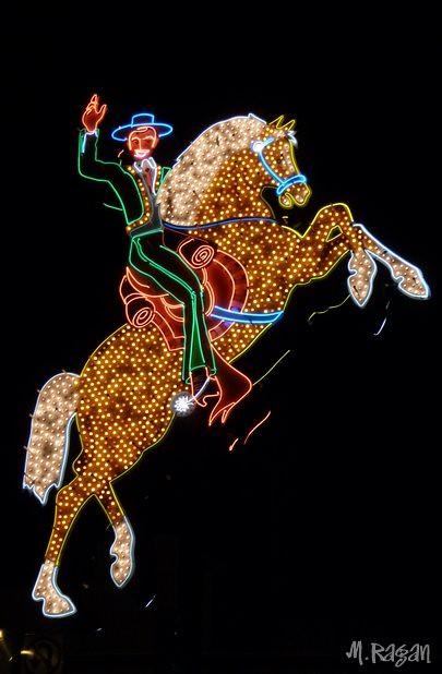 cowboy on horse neon sign   Vegas, 2008   mragan   Flickr