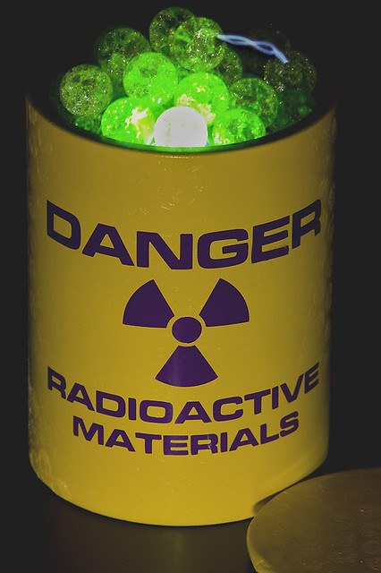 Danger Radioactive Materials A Lead Pig Overflowing