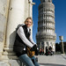 Suzi in front of the Leaning Tower of Pisa, Italy '08