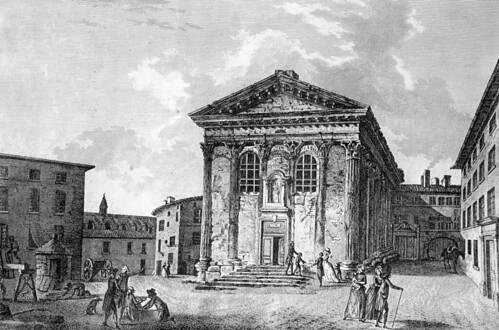 Engraving Of La Maison Carree Nimes France When Used As