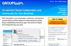 GroupSwim home page | by Web Worker Daily