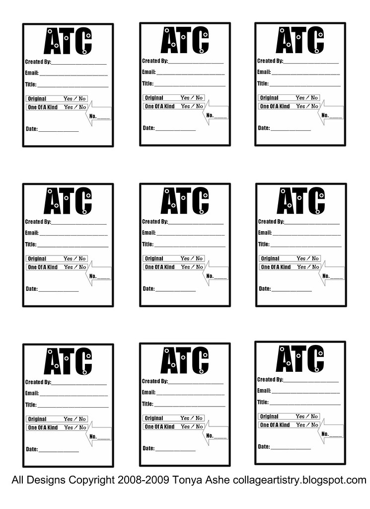 Atc Back Design Sheet No 4 Free For You To Use On Your