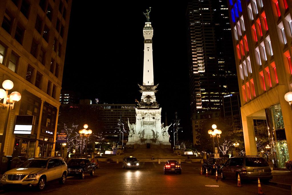 Downtown Indianapolis at Night   Josh Hallett   Flickr