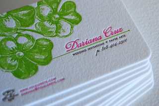 Our business cards-They are printed in thick stock | by Dari Design Studio