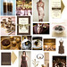 Gold and Brown 50th Golden Wedding Anniversary Inspiration Board