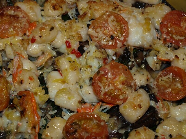 Italian style upside down seafood pie chacha tweaked the for Fish pie jamie oliver