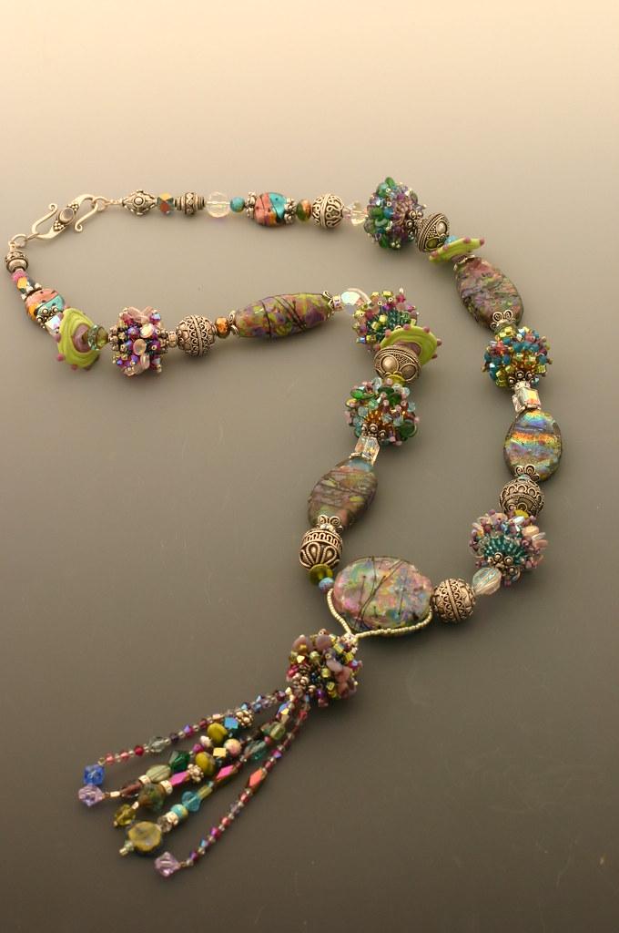 handmade glass bead necklace handmade glass and