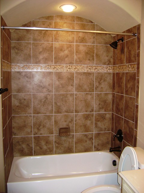 Custom tub surround | Ceramic tile tub surround with an arch ...