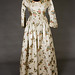 1840s Printed SatinGown