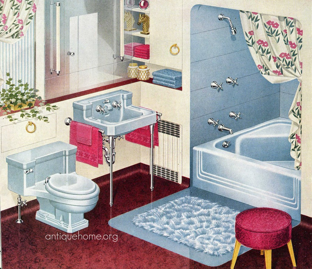 1948 Standard Plumbing Catalog Blue Bathroom Blue Bathro Flickr