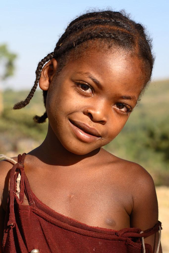 Faces Of Ethiopia  Ethiopia, A Little Girl In Jinka -6857
