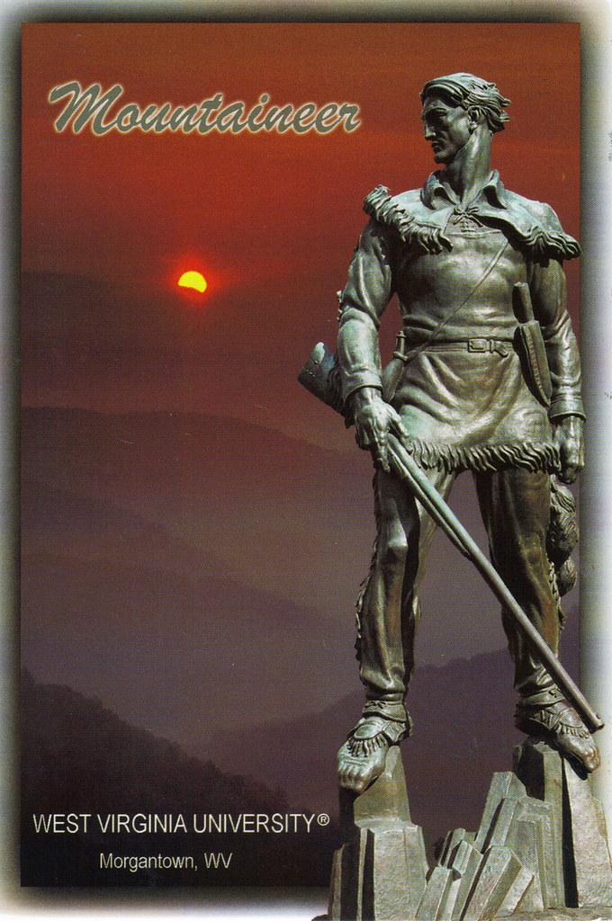 West Virginia University Mountaineer Statue Postcard Flickr