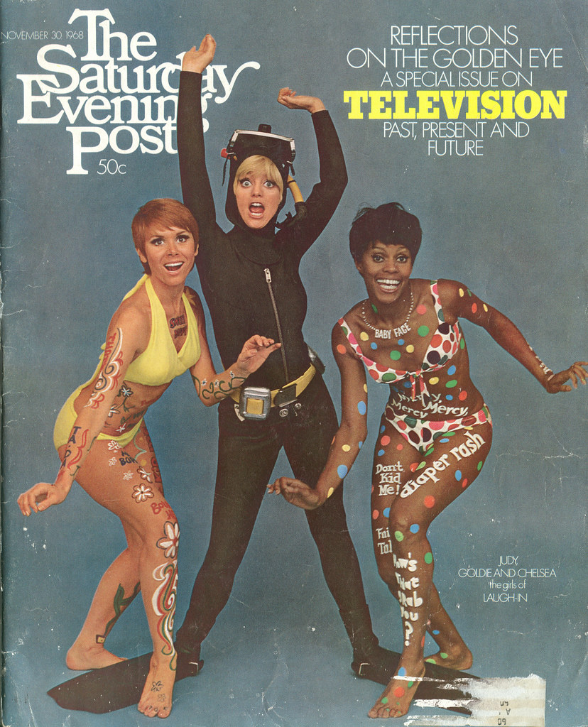 Saturday Evening Post - Nov 1968 | Judy Carne, Goldie Hawn