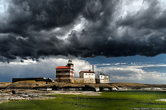 Dark clouds above Märket lighthouse | by taivasalla