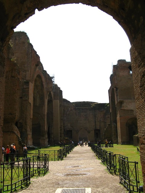baths of caracalla map it google earth street. Black Bedroom Furniture Sets. Home Design Ideas
