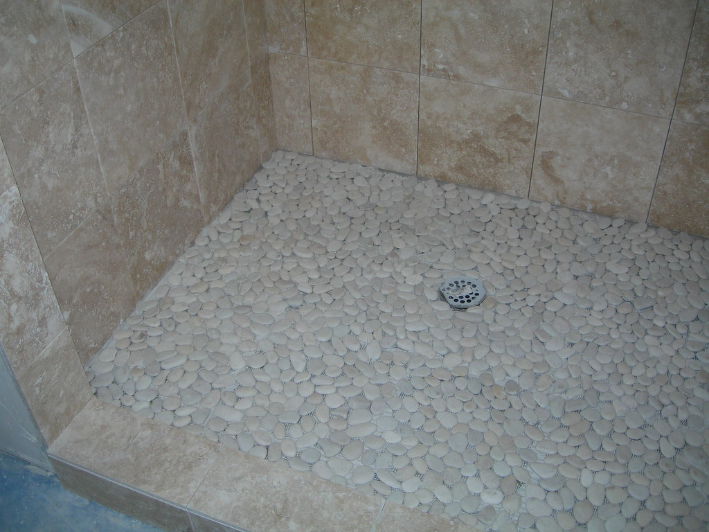 pebble tile floor bathroom bathroom pebble shower floor carpentryman flickr 19924 | 2854823701 cb9e5e67ba b