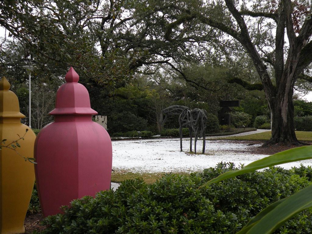 Snow Dust Sprinkle City Park Sculpture Garden Nola It