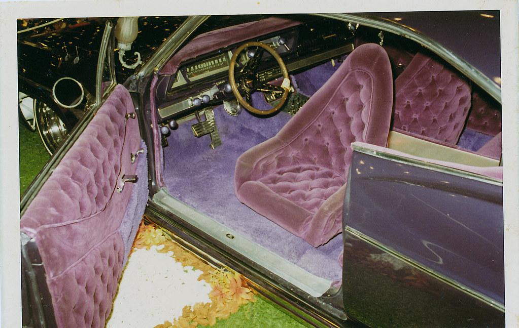 car show crushed velvet interior typical of the best qual flickr. Black Bedroom Furniture Sets. Home Design Ideas