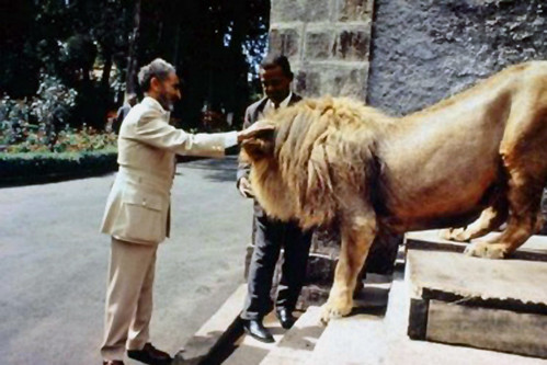 Emperor Haile Selassie I with one of his lions | Flickr - Photo ...