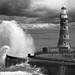 Roker lighthouse mono