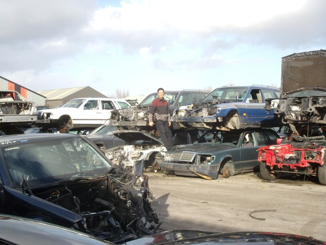 mercedes benz scrap yard