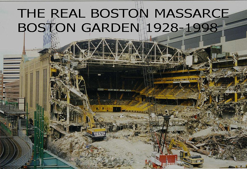 Boston Garden The Real Boston Massarce This Photo Was