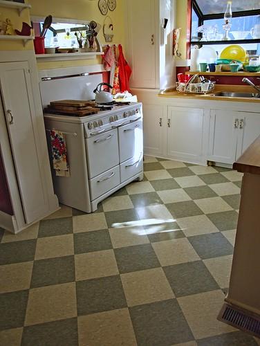 Retro Kitchen Flooring retro kitchen vinyl flooring | american hwy