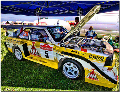 Audi Sport Quattro Group B Rally Car Silverstone Classic