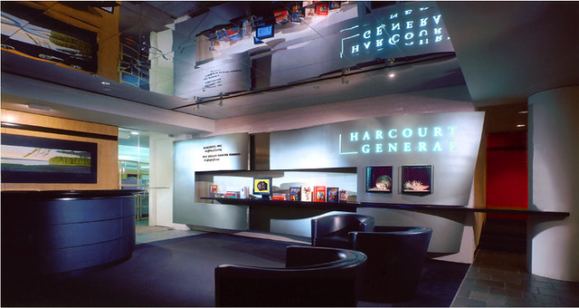 ... Corporate Art in Harcourt General Lobby + Logo Wall by Phil Manker - by Phil Manker