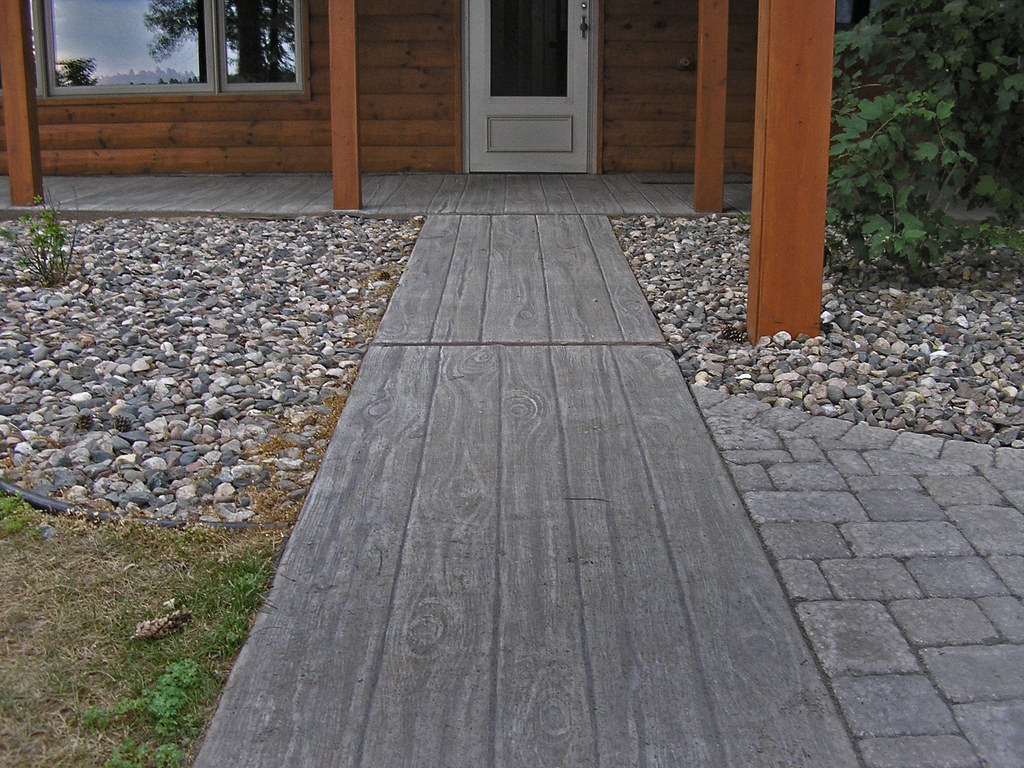 faux wood finish on concrete patio faux finish painted by flickr. Black Bedroom Furniture Sets. Home Design Ideas