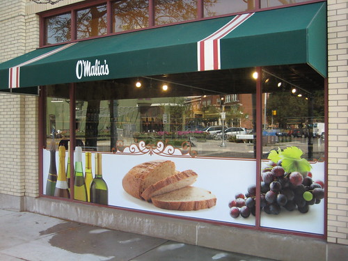 Grocery store exterior large format digital window graph for Shop exterior design