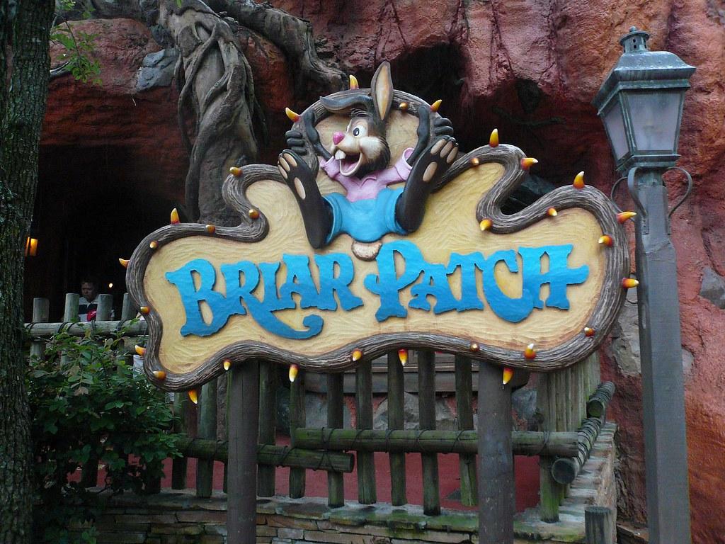 Briar Patch Sign Splash Mountain Frontierland Magic Kingdo ...