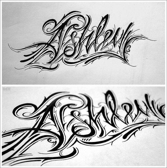 Ashley | Ashley. Tattoo design | mx 86era | Flickr