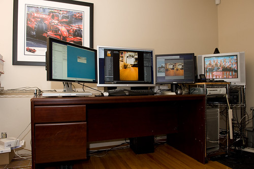 "My ridiculous Mac Pro setup (my ""Pixel Rig"") 
