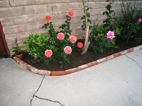 Brick lined garden planter | by ...love Maegan