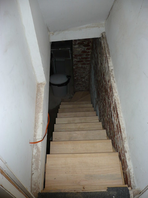 Basement Stairs Looking Down There Are The Stairs I Put In Flickr Phot
