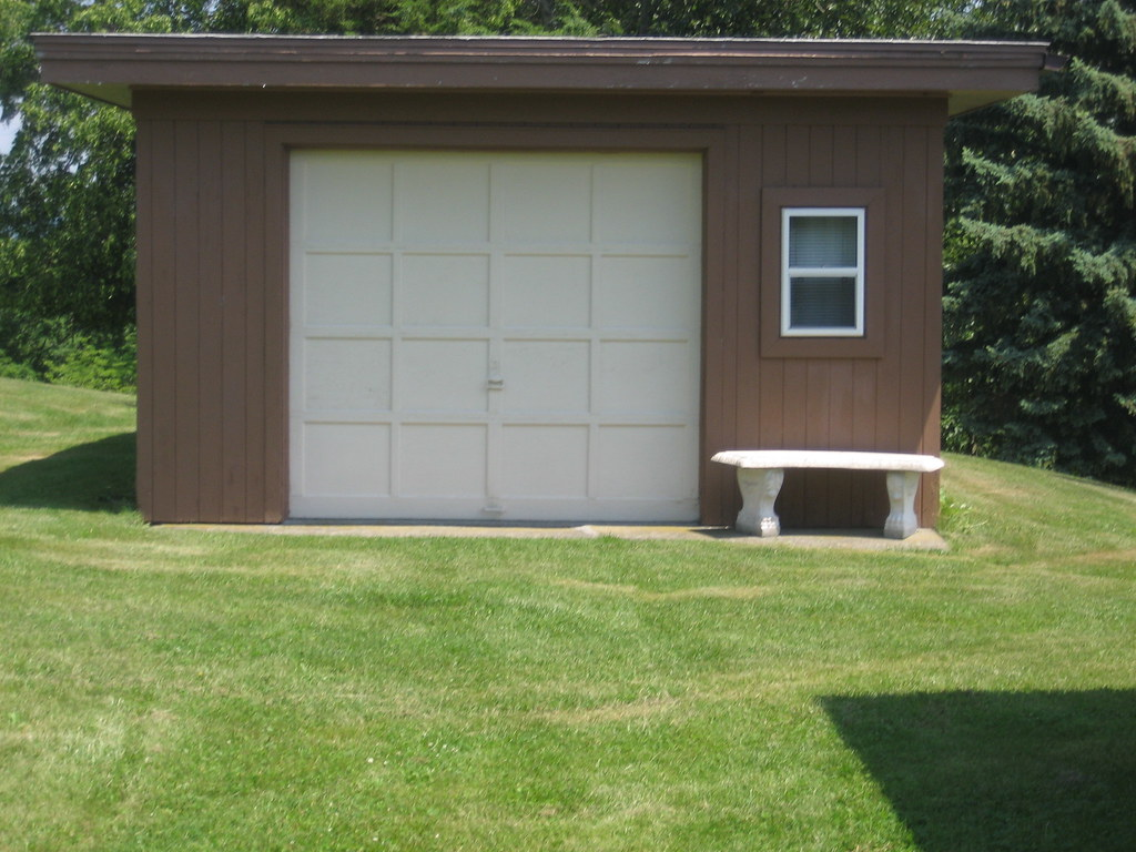 One car detached garage two car attached garage flickr for Single car detached garage