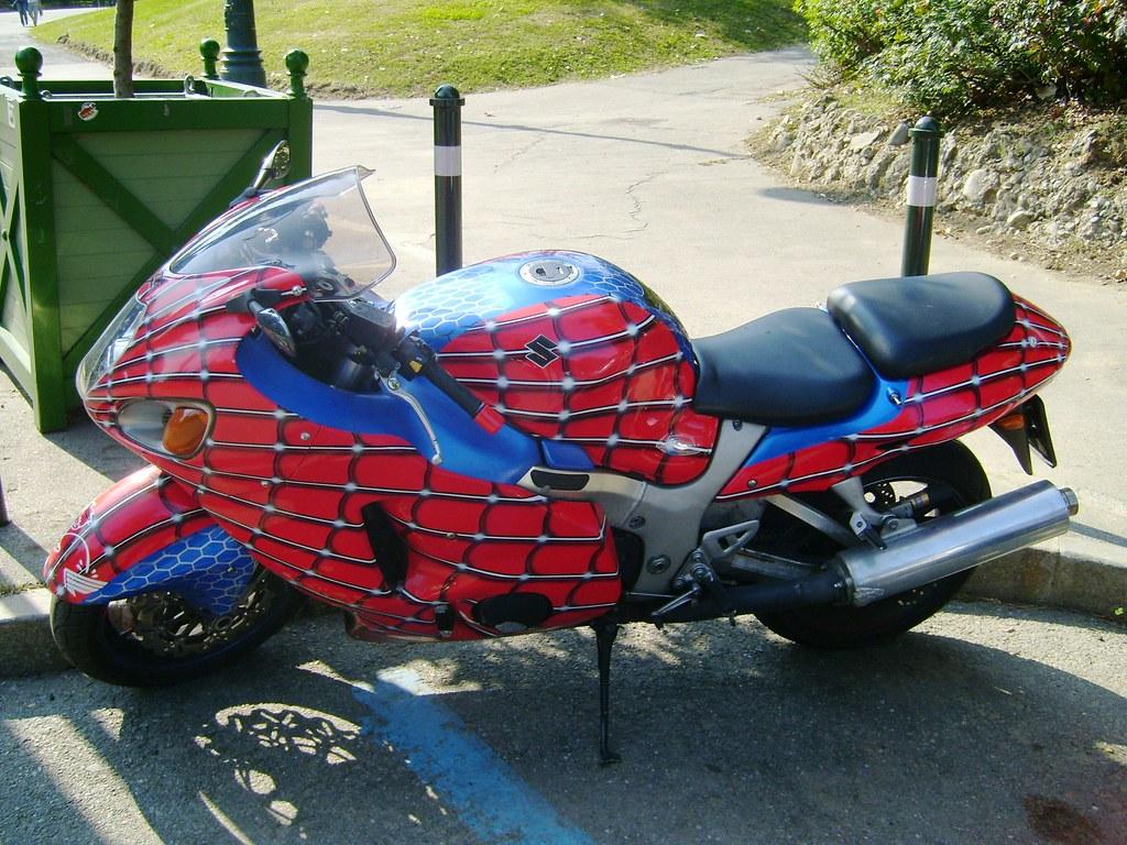 I found the spiderman 39 s bike spiderman spiderman does flickr - Spider man moto ...