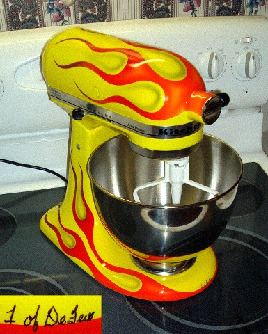 Kitchenaid Mixer With Flames Alton Brown Eat Your Heart