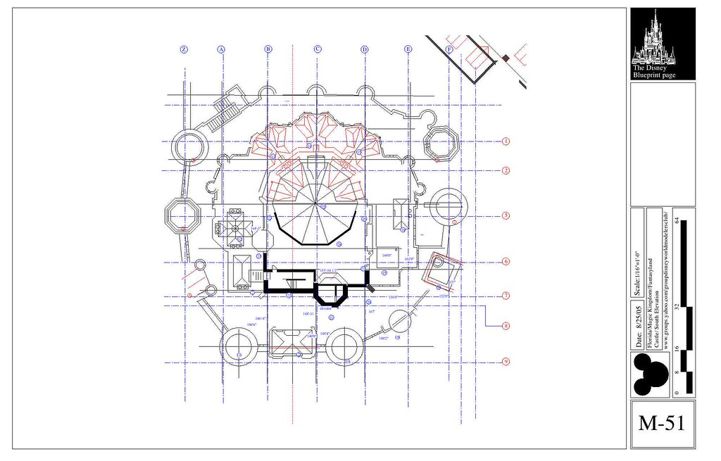 Wdw Castle Roof Plan This Isn T Actually The Top Roof