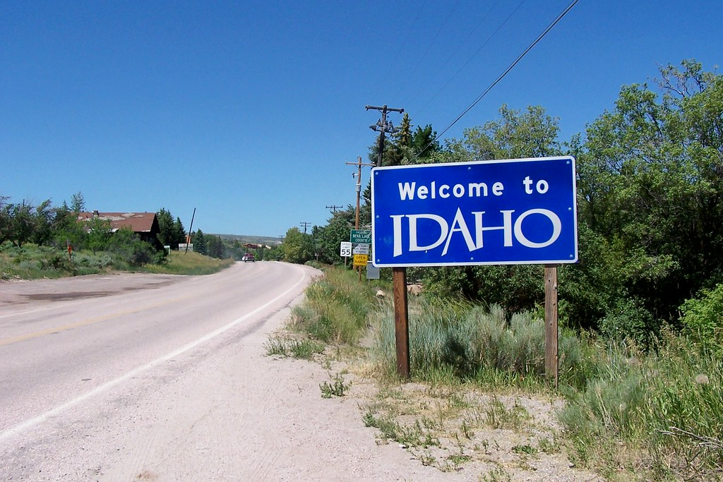 Welcome To Idaho Entering Bear Lake County Idaho From