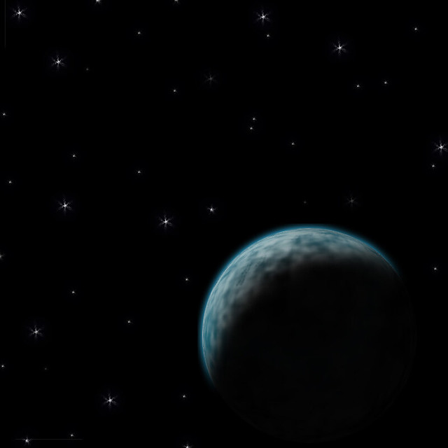 starry sky with planets - photo #5